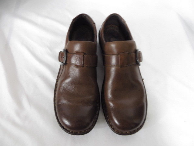 Born Women's Shoes Size 8/39 M Brown Leather Monk Strap Loafers Moccasins W82007