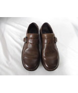 Born Women's Shoes Size 8/39 M Brown Leather Monk Strap Loafers Moccasin... - $29.58