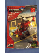 Toys New Fire Brigade City Heros Helicopter Building Blocks 61 pieces - $7.95