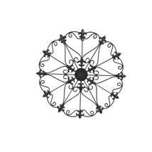 Benzara C482-MTL0003 Metal Wall Decor with Fleur De Lis Black - $29.99