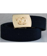 US Army Warrant Officer Black Military Belt & Buckle  - $14.99