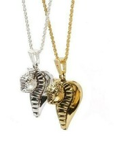 "Han Cholo Gold Plated Cobra Lover Pendant with 24"" Chain image 2"