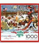 Charles Wysocki Jigsaw Puzzle Small Town Christmas 1000 Pieces NEW - $19.95