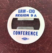 UAW -CIO Region 9A Conference / Union Label Pin - $14.03