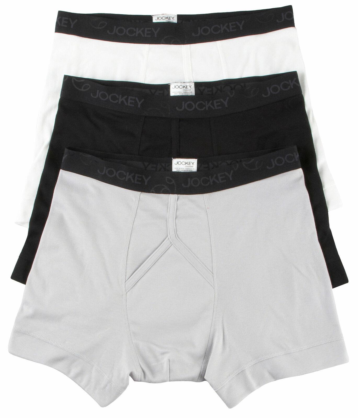 NEW Jockey 8802 Staycool Men's Classic Boxer Brief - 3 Pack S M L XL 100% Cotton