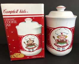 1990 CAMPBELL SOUP CO Kids 9.5 inch Girl Ceramic Cookie Jar 80 oz - $54.44