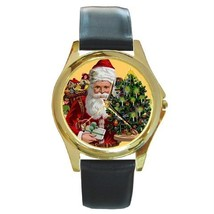 SANTA & TREE CHRISTMAS GOLD-TONE WATCH 9 OTHER STYLES  - $25.99