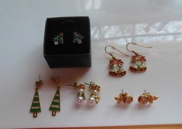 Avon Christmas/Holiday Earring Lot 5 Pair - $51.47