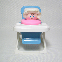 Fisher Price Chunky Little People Baby and High Chair Pink Girl - $14.00