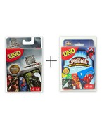 Combo Marvel Spiderman + Justice League UNO Card Games Brand new sealed ... - $23.32