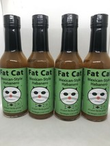 """Fat Cat Mexican-Style Habanero Gourmet """"Hot"""" Sauce 5oz x4 Bottles USA Ex... - $45.53"""