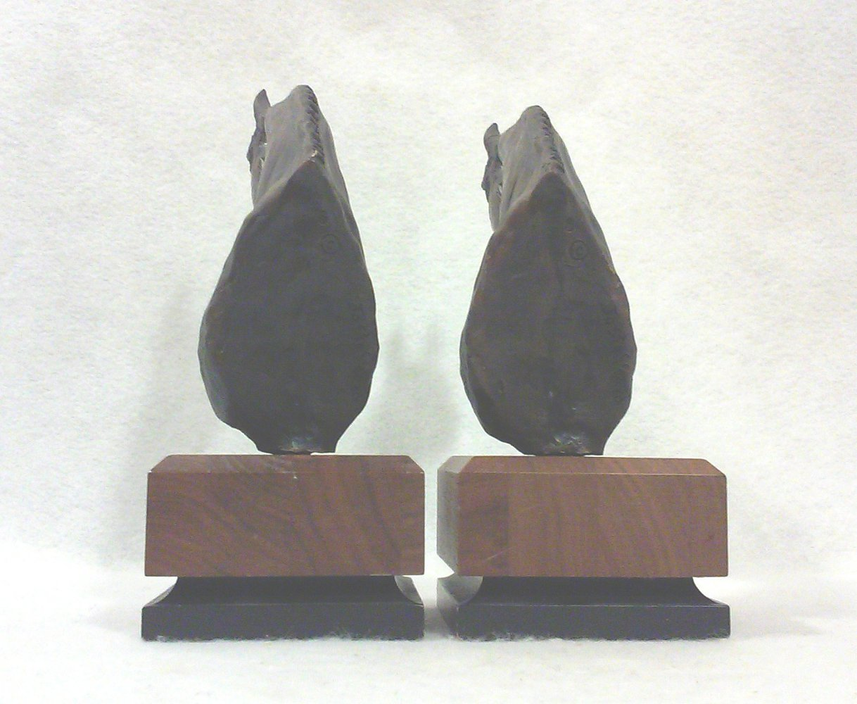 Mid-Century Modern Brutalist Horse Head Bookends