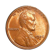 1926 D Lincoln Wheat Cent - Gem BU / MS RD / UNC - $157.45