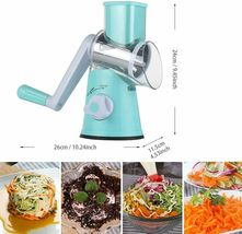 Cambom Manual Rotary Cheese Grater - Round Mandoline Slicer with Strong Suction image 3