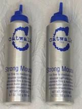 TIGI Catwalk Strong Mousse Fine to Medium Hair 6.7 OZ, Missing Caps *2 C... - $19.77