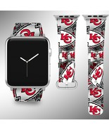 Kansas City Chiefs Apple Watch Band 38 40 42 44 mm Fabric Leather Strap 1 - $29.97