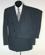 Bellini Suit 40R Pants 35 x 28 Gray Wool Double Breasted Pleated  - $39.15