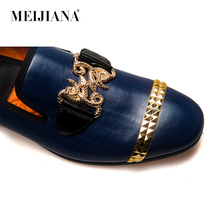 M Men loafers New Shoes genuine Handsome Brand leather Comfortable 2018 MeiJiaNa vqE61x4gwW