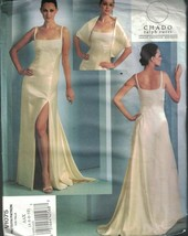 1075 UNCUT Vogue Sewing Pattern Misses Dress Stole Evening Gown Chado Ru... - $14.99
