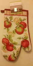 """Fabric Printed 12"""" Jumbo Oven Mitt, APPLES with red back by CV - $7.91"""