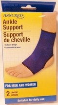 2 COUNT - ASSURED ANKLE SUPPORT COMPRESSION SLEEVES PER PACKAG { MEN & WOMEN }