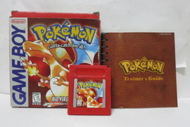 Pokemon Red Version  (Nintendo Game Boy) GB GBC COMPLETE- NEW SAVE BATTERY - $82.99