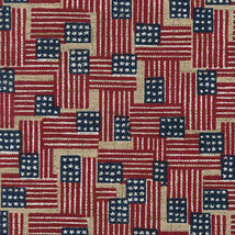 Longaberger Tea Small Key Patriot Basket Old Glory Flag Fabric DI Liner Only - $11.83