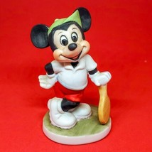 VINTAGE MICKEY MOUSE TENNIS PLAYER BISQUE FIGURINE WALT DISNEY PRODUCTIONS - $18.62
