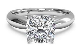 4.00 Carat Cushion Cut Diamond Engagement Ring Solitaire 14k White Gold ... - $4,281.08
