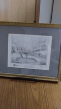 "Vintage Thomas  Kinkade  Collector  Sketch Print  #22626  ""Gardens Beyond Autumn image 4"