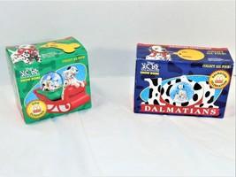 101 Dalmatians Dog Sledding Snow Dome and Celebration 1996 Snow Globe Vintage  - $9.90