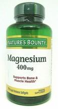 Nature's Bounty Magnesium 400 mg Softgel 75 ea 09/2022 Free Shipping - $16.78