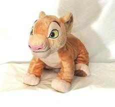 Disney Store The Lion King Simba 12 inch Plush Stuffed Toy Tan - $19.79