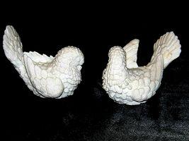 A. Santini Italian classic figure sculptor white Doves AA19-1683  Vintage Pair image 4