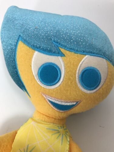 """Disney Collection Inside Out Joy plush doll 16"""" tall stuffed Blue and Yellow image 4"""