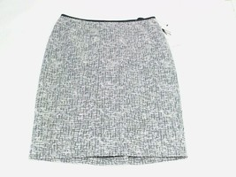 Calvin Klein Womens Nubby Weave Textured Waist Detail Pencil Skirt Grey/White 6 - $18.85