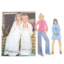 70s Vtg McCalls Sewing Pattern 5286 Girls Dress Top Caftan Embroidered M... - $7.95