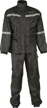 Fly Racing MOTORCYCLE 2-PC Rainsuit Black Lg - $79.95
