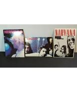NIRVANA LOT OF 3 STICKERS vintage rare Kurt Cobain Dave Grohl - $39.60