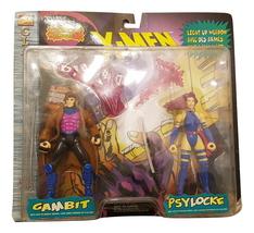 """Toy Biz Marvel Comics X-men 1996 Gambit Psylocke 6"""" Action Figure Pack - $49.64"""