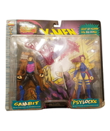 "Toy Biz Marvel Comics X-men 1996 Gambit Psylocke 6"" Action Figure Pack - $49.64"