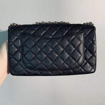 Authentic Chanel Classic Flap Caviar Quilted Large Filigree Flap Shoulder Bag image 7