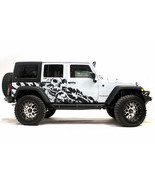 Vinyl Decal Nightmare Wrap Kit for Jeep Wrangler Rubicon 2007-2016 Matte Black - $126.17
