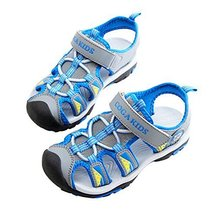 Breathable Boy's Outdoor Comfort Casual Beach Sandals BLUE, Feet Length 16.8CM