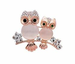 Men Women Gifts Cute Retro Owl Brooch Pin Clothing Accessories