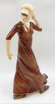 Vintage Goebel Porcelain Fashion Lady Figurine SKIMMING GENTLY 1800 Germany - $55.00