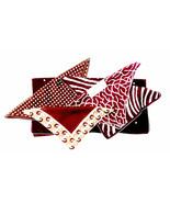 Lot of 5 (Five) Brown White Handkerchiefs Polka Dots Zebra Coral Mod Gra... - $41.30