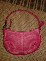 Coach - pink thick leather Hobo shoulder Handbag purse - $25.55