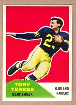 1960 Fleer #27 Tony Teresa Oakland Raiders AFL 1st season/San Jose State... - $6.88