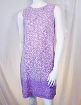 TALBOTS Womens Floral Print 100% Silk Shift Dress 10 M Med - $32.73